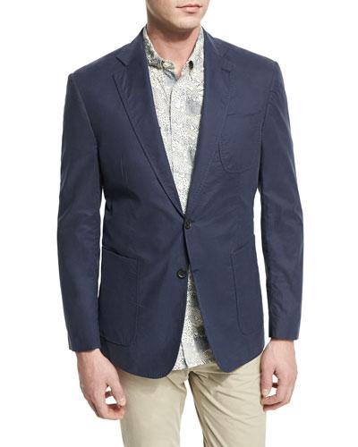 Rustin Textured Cotton Sport Coat, Navy