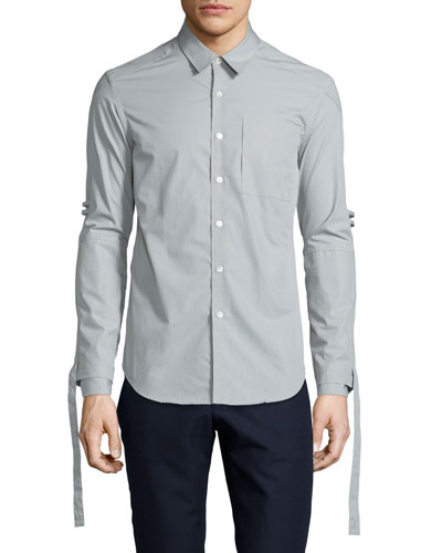 Range Whip Woven Dress Shirt, Timberwolf Gray