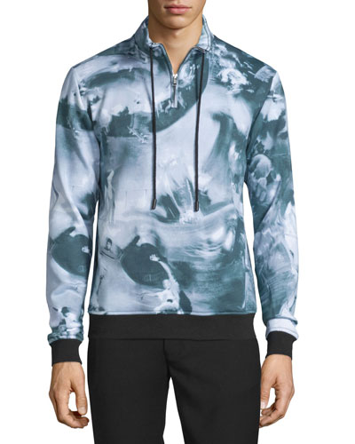 Motion College Zip-Front Pullover, Black/Multi