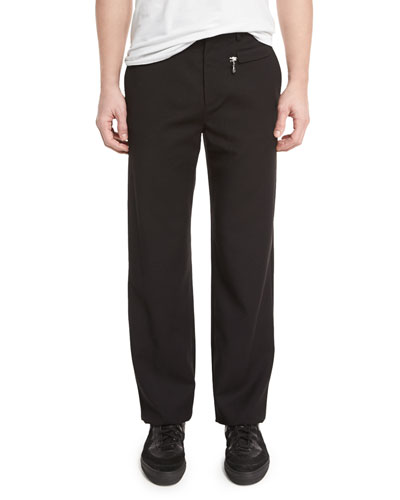 Focal Straight-Leg Skater Pants, Black