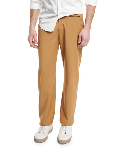 Focal Straight-Leg Skater Pants, Camel