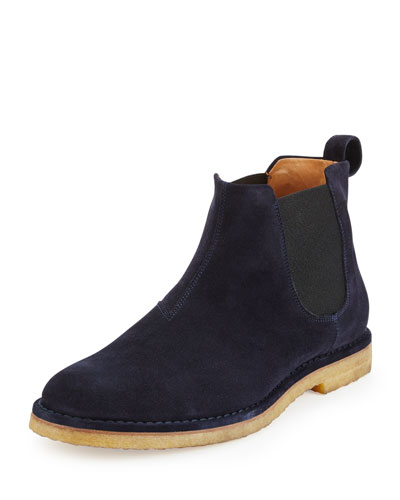 Sawyer Suede Chelsea Boot, Navy