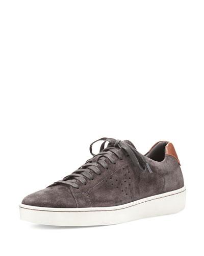 Simon Suede Low-Top Sneaker, Gray