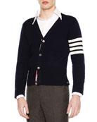 Classic V-Neck Cashmere Cardigan, Navy