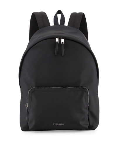 London Nylon Backpack, Black
