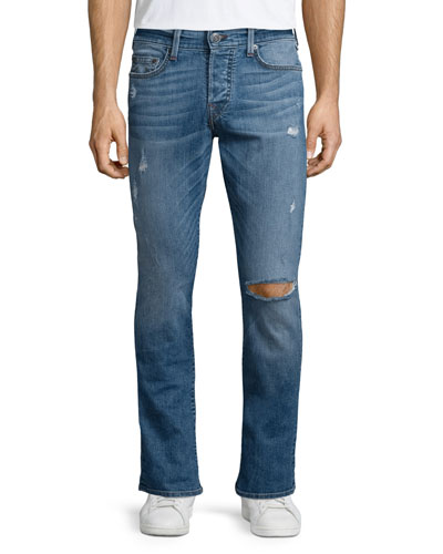Russell Westbrook Collection Rocco Quickfade Destroyed Denim Jeans, Street Flux