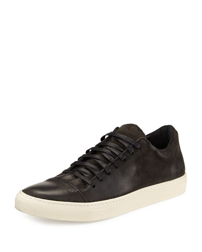 315 Reed Leather Low-Top Sneaker, Dark Charcoal