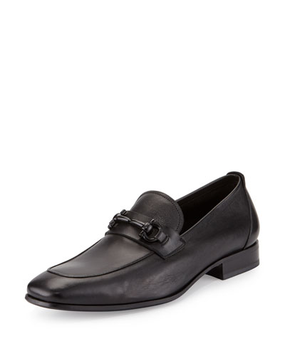 Soft Calfskin Gancini Loafer, Black