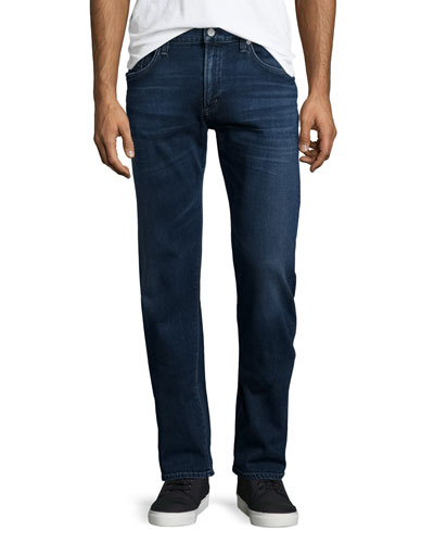 Core Slim-Straight Titan Jeans, Dark Blue