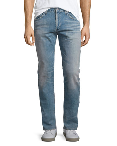 Holden Anchor Slim-Fit Denim Jeans, Light Blue