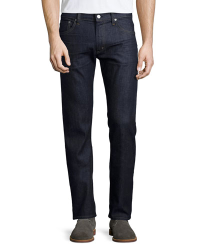 Core Slim-Straight Lafayette Denim Jeans, Navy