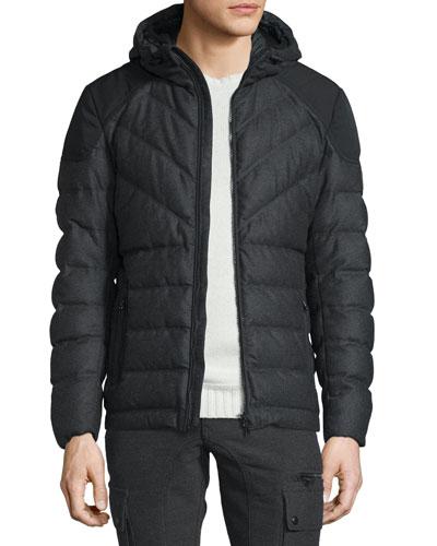 Glenwood Flannel Hooded Down Jacket
