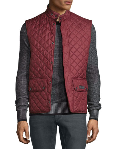 Lightweight Quilted Tech Vest, Racing Red