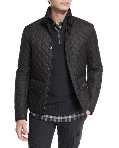 Wilson Lightweight Quilted Tech Jacket, Black