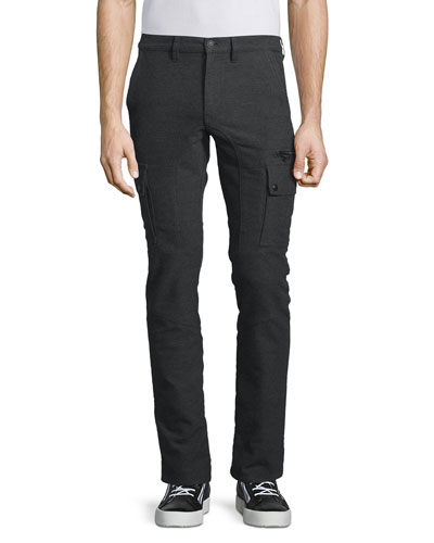 Keating Cotton-Stretch Flannel Cargo Pants, Charcoal