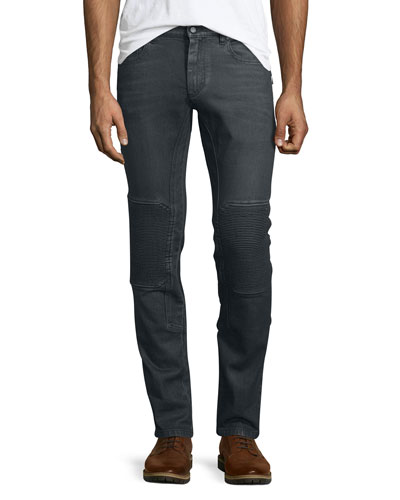 Blackrod Slim-Stretch Jeans W/Knee Panels, Charcoal