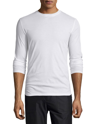Long-Sleeve Jersey T-Shirt, White