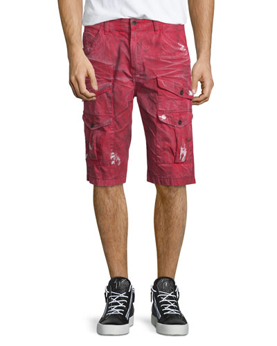 Dirty-Effect Cargo Shorts