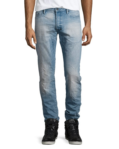 Barracuda Slim-Fit Denim Jeans, Light Blue