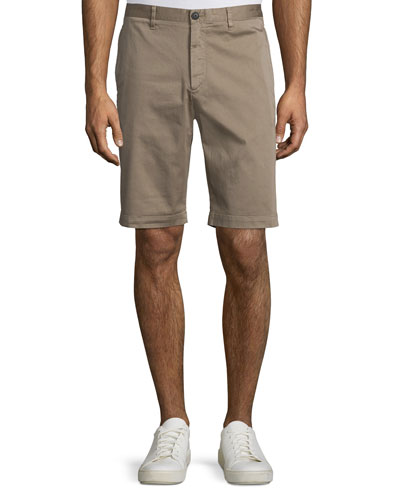 Brucer Greely Flat-Front Shorts, Beige