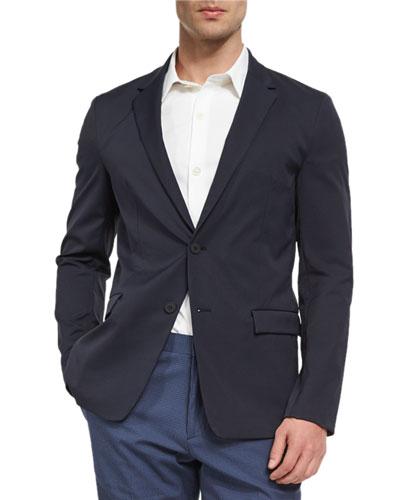 Simons Neoteric Nylon-Blend Sport Coat, Navy