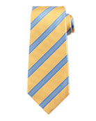 Striped Twill Silk Tie