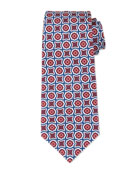 Fancy Medallion-Print Silk Tie