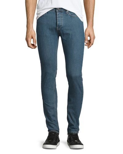 Hopper Skinny-Leg Denim Jeans, Denim Blue