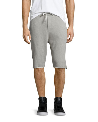 Vlad Drawstring Cutoff Sweat Shorts, Gray