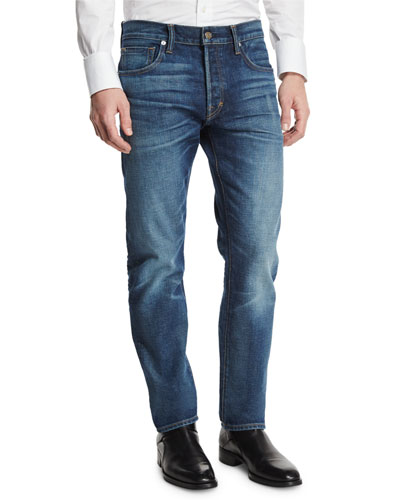 Regular-Fit Selvedge Denim Jeans, Indigo