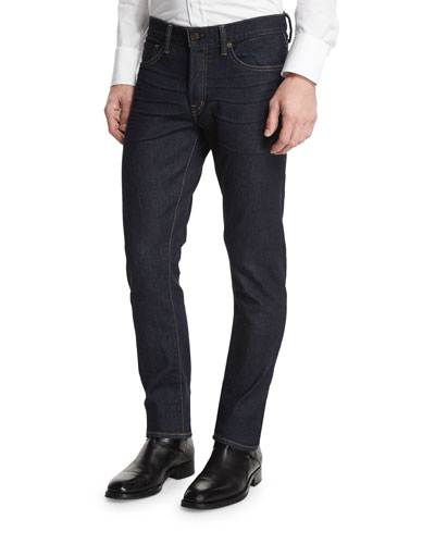 Slim-Fit Stretch Denim Jeans, Indigo