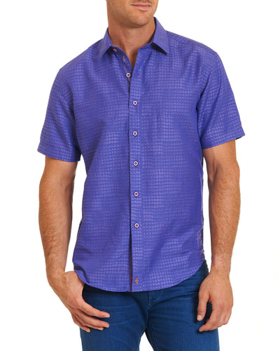 Santa Catalina Printed Short-Sleeve Shirt, Purple