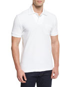 Tennis Pique Polo Shirt, White