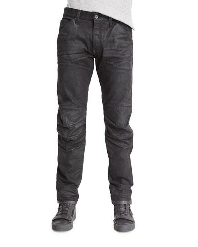 5620 3D Tapered Slim Denim Jeans, 3D Dark Aged