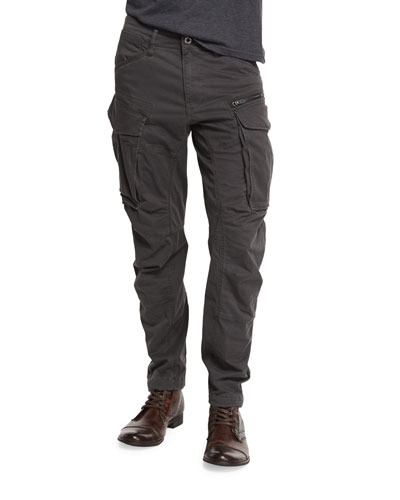 Rovic 3D Tapered-Leg Cargo Pants, Raven