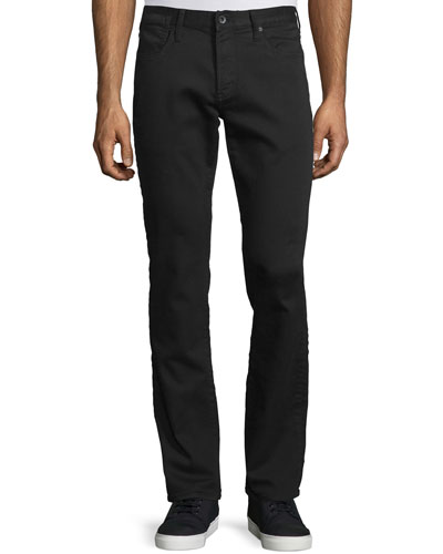 Bowery Slim-Straight Denim Jeans, Black