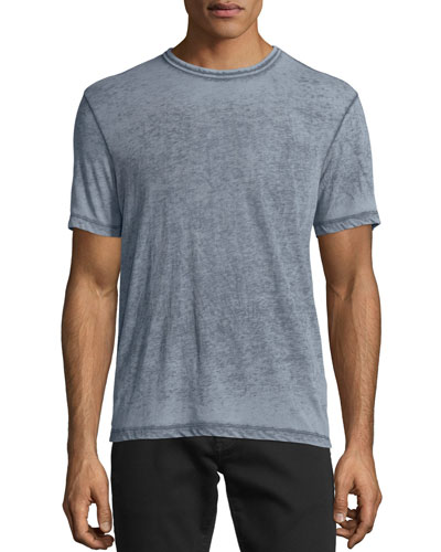 Burnout Short-Sleeve T-Shirt, Dark Indigo
