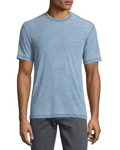 Burnout Short-Sleeve Crewneck T-Shirt, Atlantic Blue