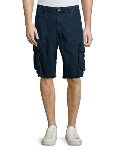 Weekender Frayed Cargo Shorts, Navy