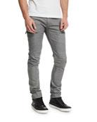 Men's Acrux Skinny-Fit Moto Jeans, Rinse Coxa