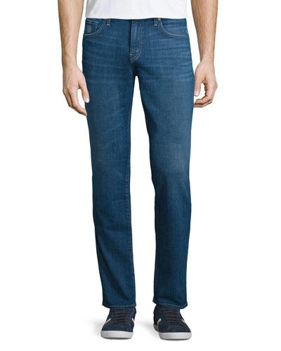 Kane Straight-Leg Denim Jeans, Castula