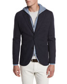 Cashmere-Blend Sweater Jacket