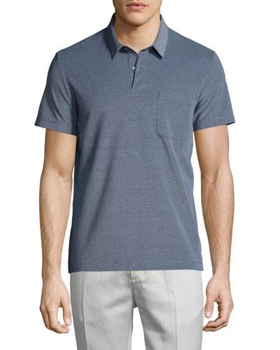 Millos Short-Sleeve Pique Polo Shirt, Illumination Heat