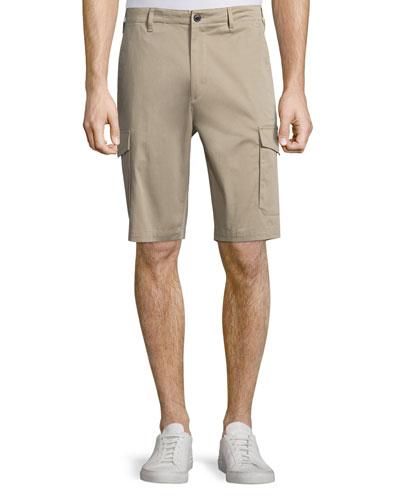 Zaine Straight-Leg Cargo Shorts, Winter Sand