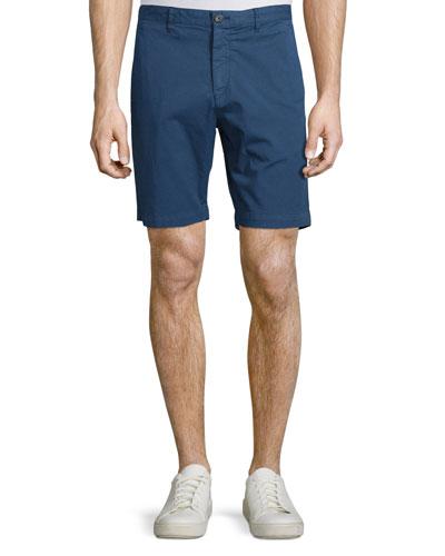 Zaine Flat-Front Shorts, Illumination