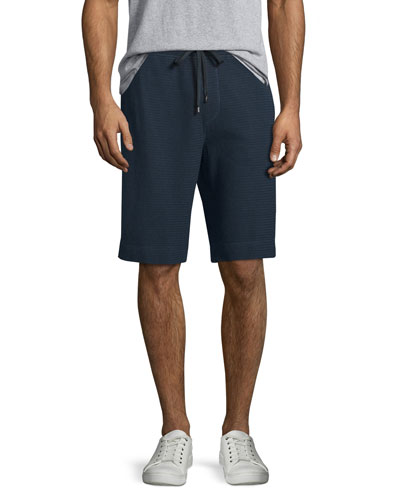 Thermal-Stitch Drawstring Shorts, Coastal