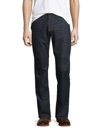 Blake Annex Straight-Leg Denim Jeans, Dark Blue