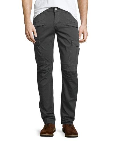 Greyson Wharf Cargo Biker Jeans, Dark Gray
