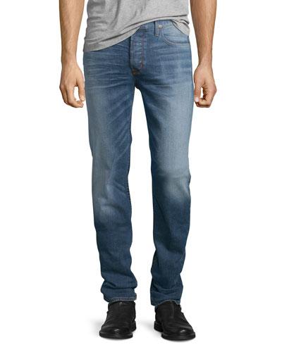 Sartor Beach Slouchy Skinny-Leg Denim Jeans, Blue
