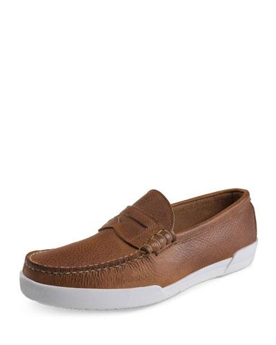 Gilkey USA Leather Penny Loafer, Tan